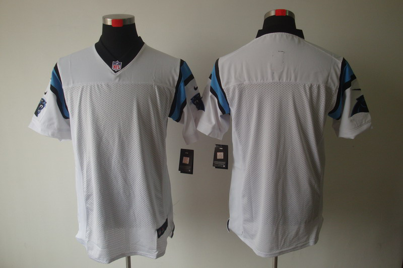 Carolina Panthers Blank white Elite Nike Jerseys