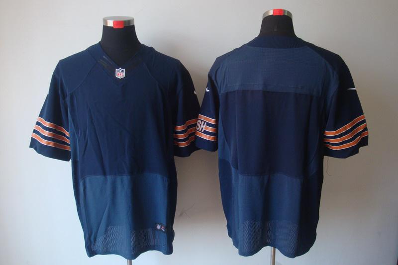 Chicago Bears Blank blue Elite Nike Jerseys