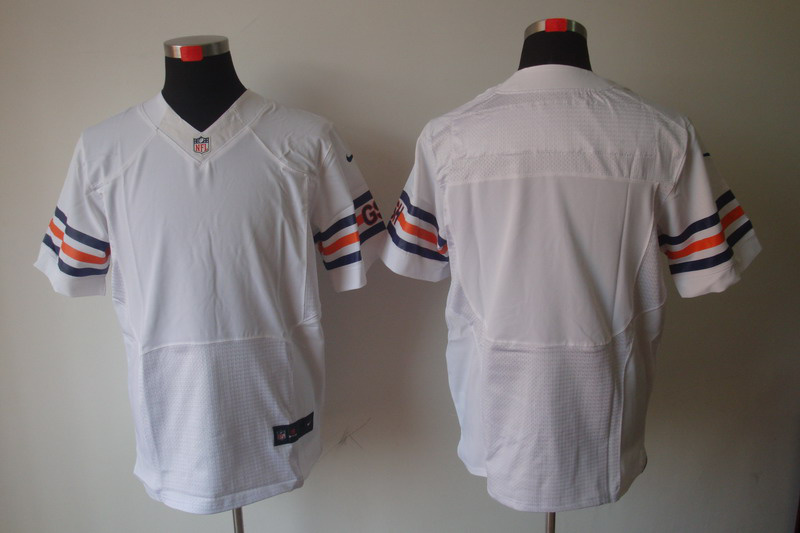 Chicago Bears Blank white Elite Nike Jerseys