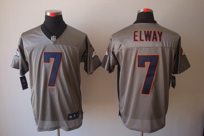Denver Broncos 7 Elway Nike Gray shadow jerseys