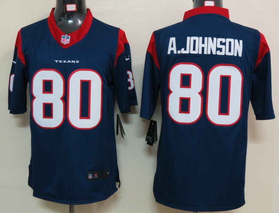 Houston Texans 80 A.johnson Blue Nike Limited Jersey