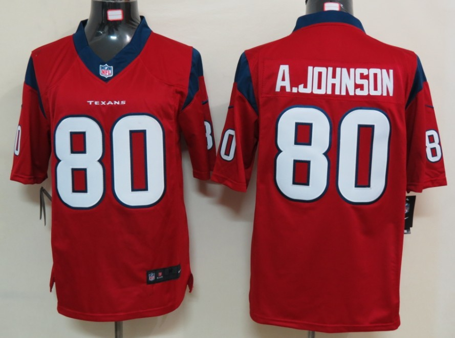 Houston Texans 80 A.johnson Red Nike Limited Jersey