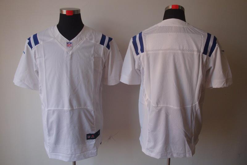Indianapolis Colts Blank white Elite Nike Jerseys