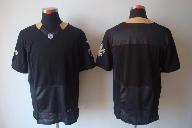 New Orleans Saints Blank black Elite Nike Jerseys