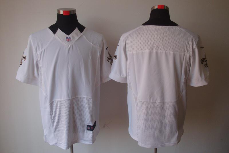 New Orleans Saints Blank white Elite Nike Jerseys