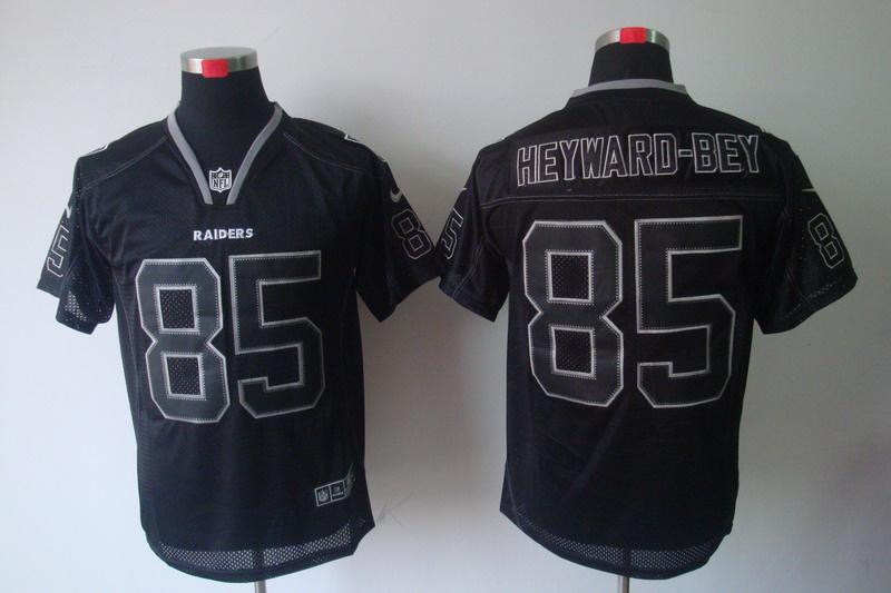 Oakland Raiders 85 Heyward-bey Nike Lights Out Black Elite Jerseys