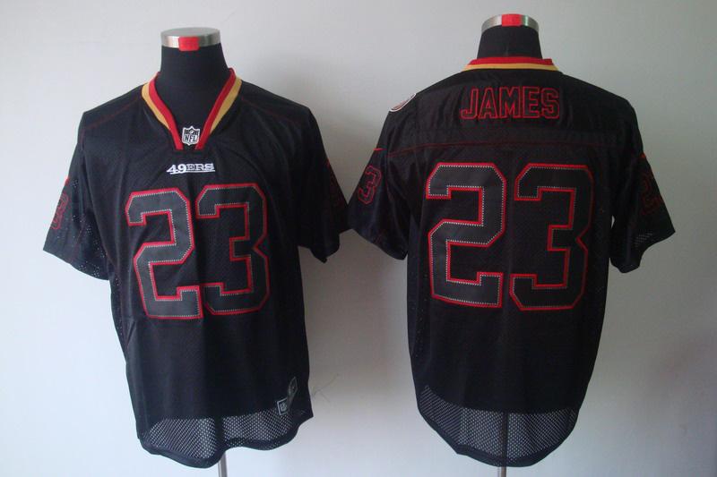 San Francisco 49ers 23 James Nike Lights Out Black Elite Jerseys