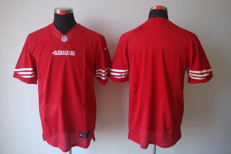 San Francisco 49ers Blank red Elite Nike Jerseys