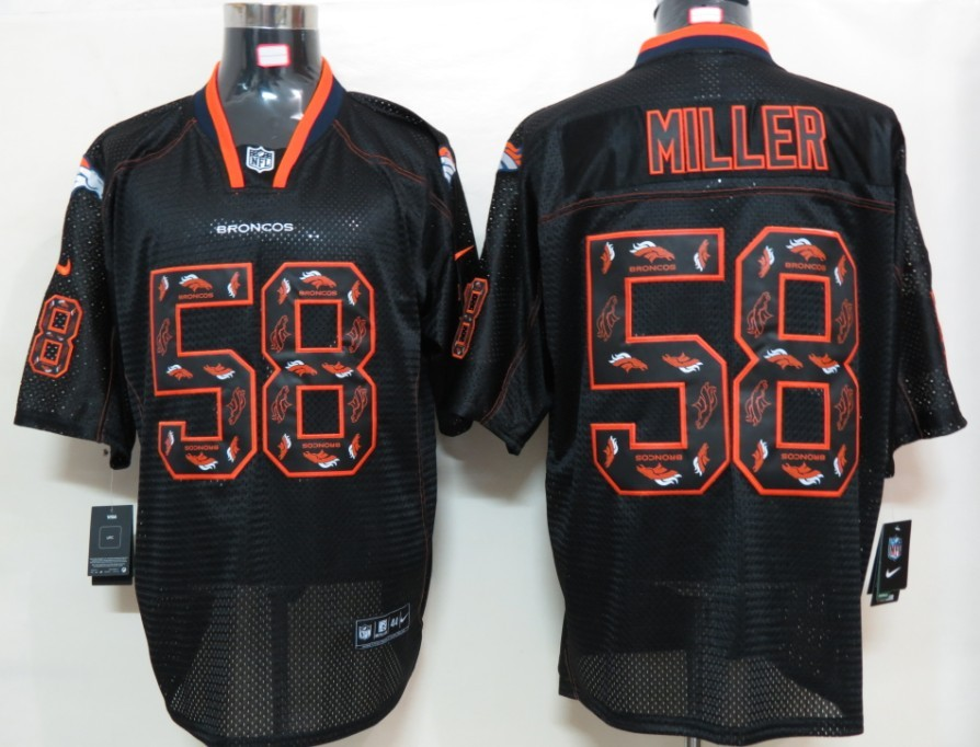 Denver Broncos 58 Miller Nike Lights Out Black Elite Jerseys