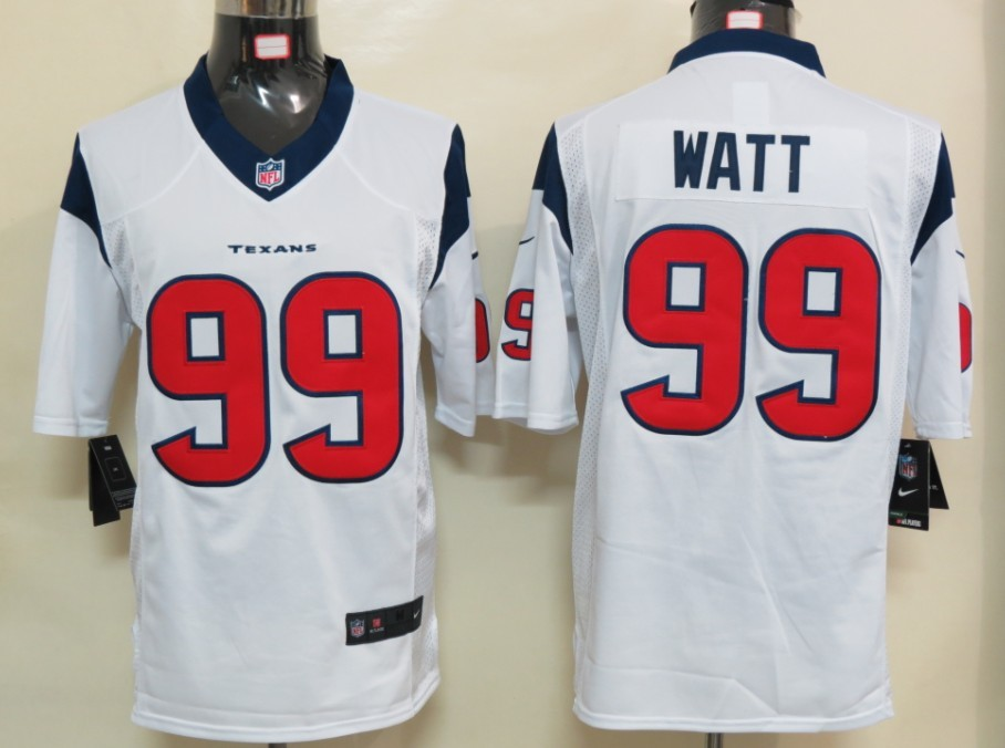 Houston Texans 99 Watt White Nike Limited Jersey