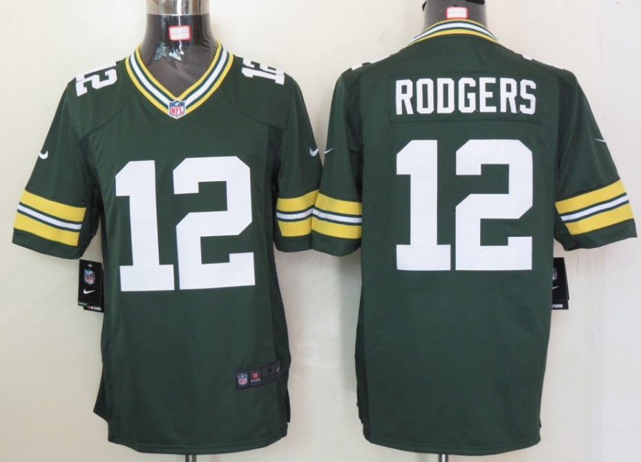 Green Bay Packers 12 Rodgers Green Nike Limited Jersey