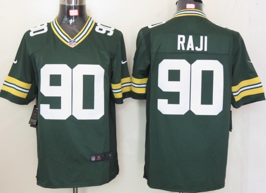 Green Bay Packers 90 Raji Green Nike Limited Jersey