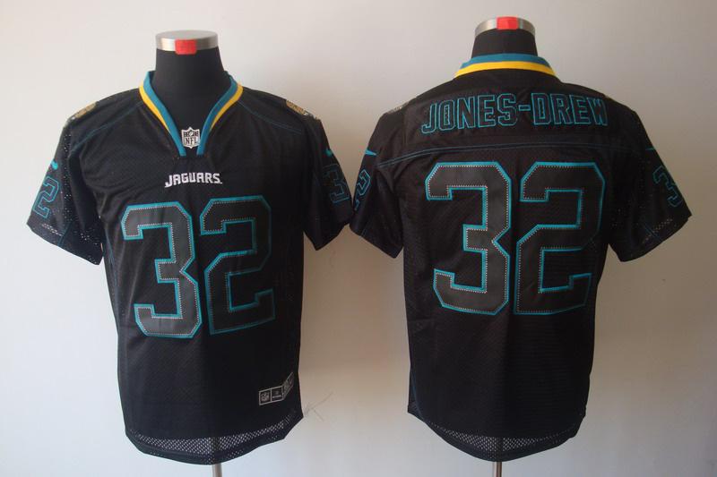 Jacksonville Jaguars 32 JONES-DREW Nike Lights Out Black Elite Jerseys