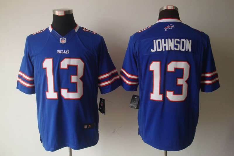 Buffalo Bills 13 Johnson Blue Nike Limited Jersey