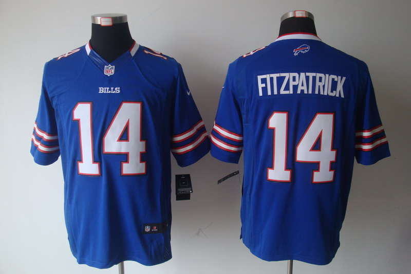 Buffalo Bills 14 Fitzpatrick Blue Nike Limited Jersey