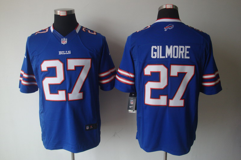 Buffalo Bills 27 Gilmore Blue Nike Limited Jersey