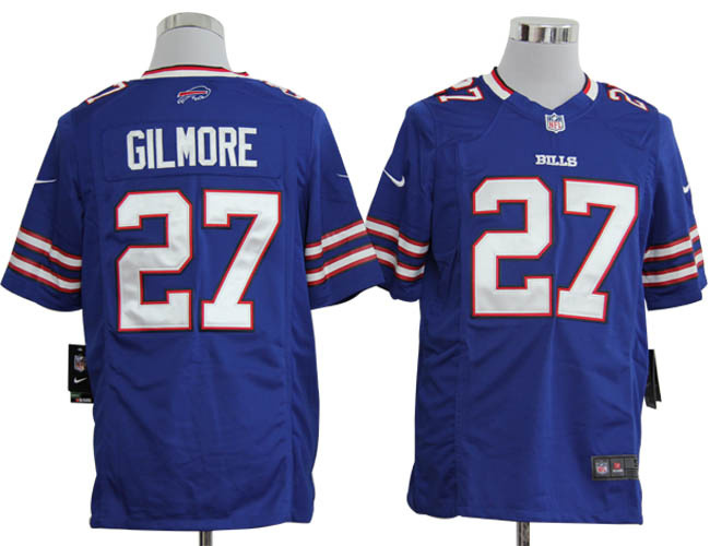 Buffalo Bills 27 Gilmore Blue Game Nike Jersey