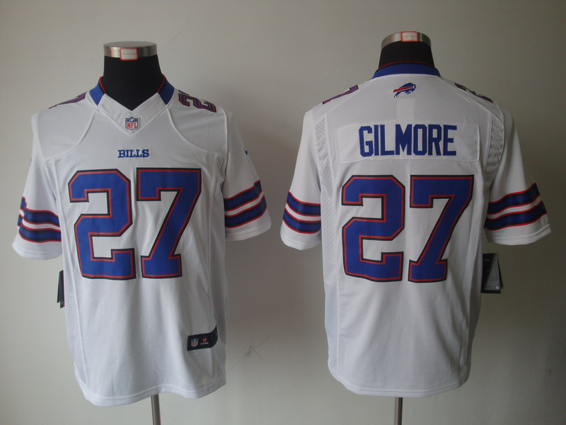 Buffalo Bills 27 Gilmore White Nike Limited Jersey