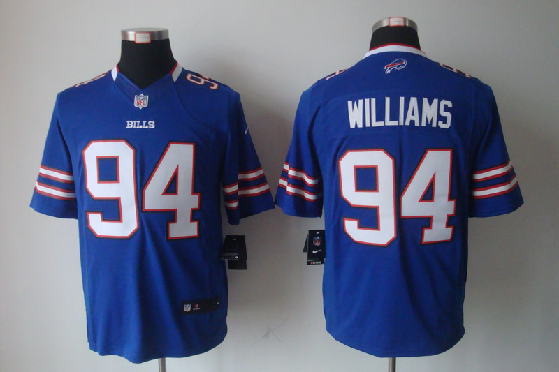 Buffalo Bills 94 Williams Blue Nike Limited Jersey