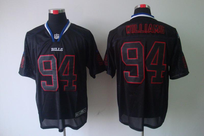 Buffalo Bills 94 Williams Nike Lights Out Black elite Jerseys