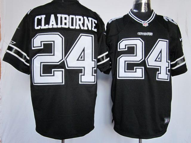 Dallas cowboys 24 Claiborne Black Game Nike Jerseys