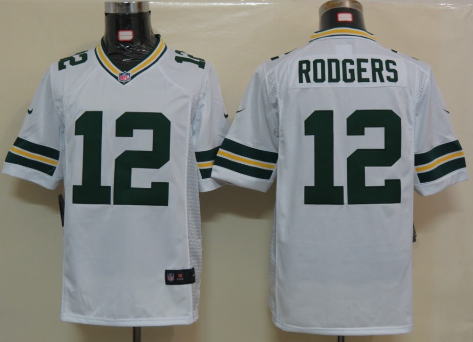 Green Bay Packers 12 Rodgers White Nike Limited Jersey