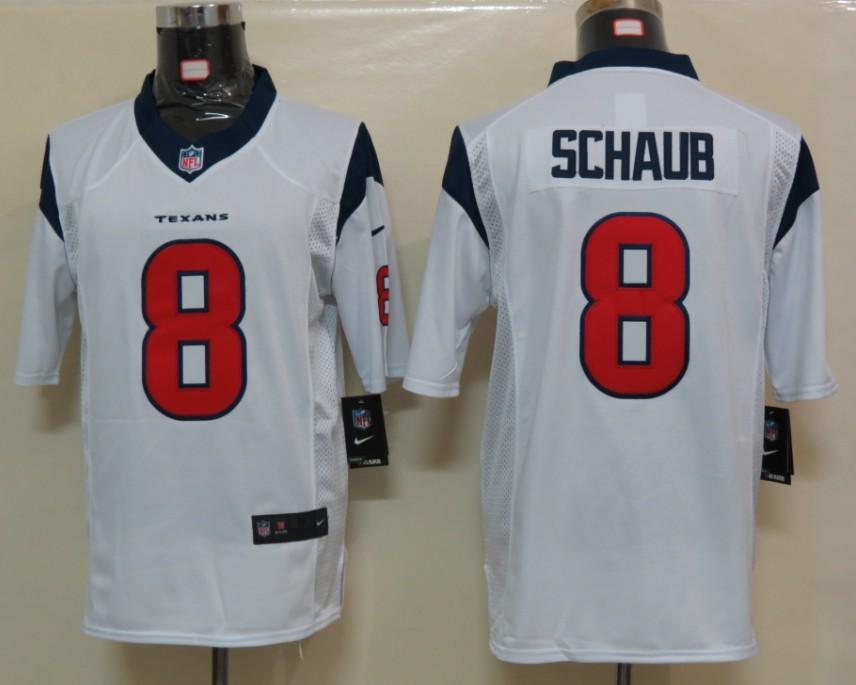 Houston Texans 8 Schaub White Nike Limited Jersey