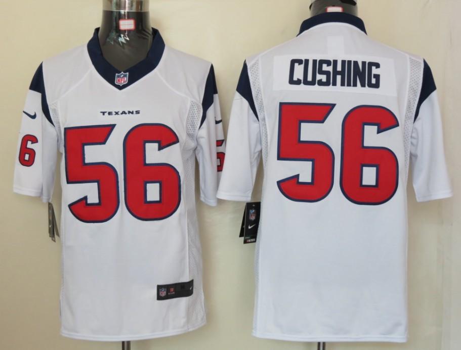 Houston Texans 56 Cushing White Nike Limited Jersey