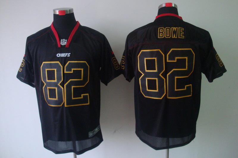 Kansas City Chiefs 82 Bowe Nike Lights Out Black elite Jerseys
