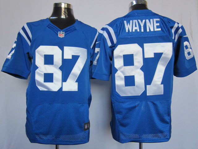 Indianapolis Colts 87 Reggie Wayne Blue Elite Nike Jerseys