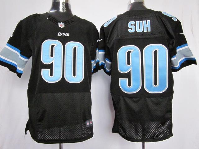 Detroit Lions 90 Suh Black Elite nike jerseys