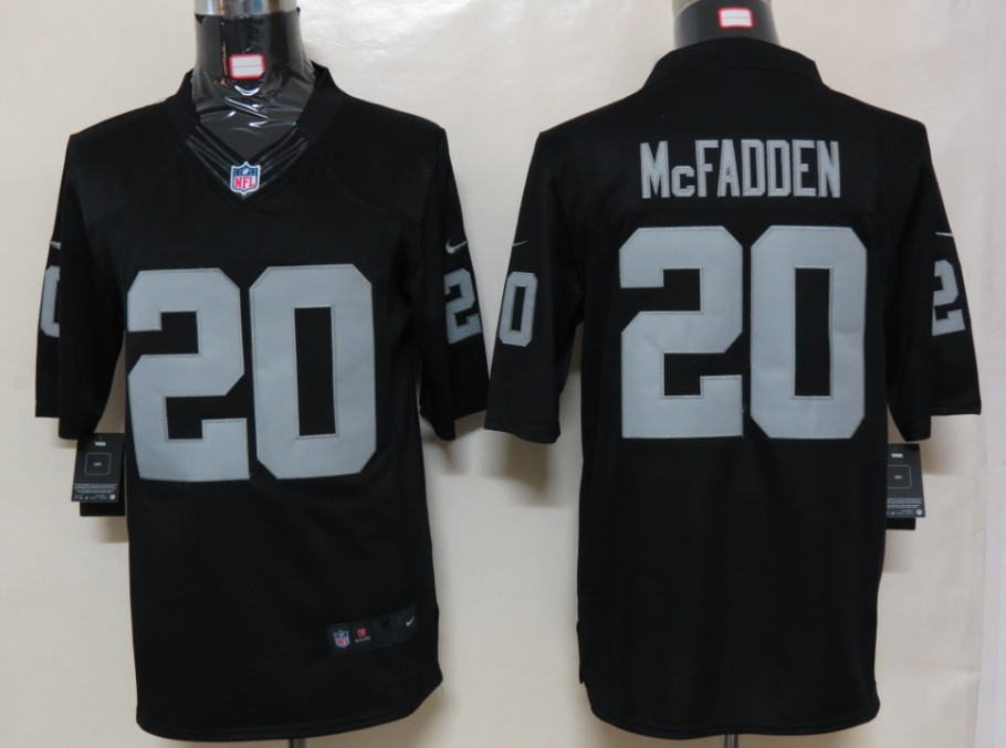 Oakland Raiders 20 McFADDEN Black Nike Limited Jersey