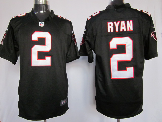 Atlanta Falcons 2 ryan black Game Nike Jersey