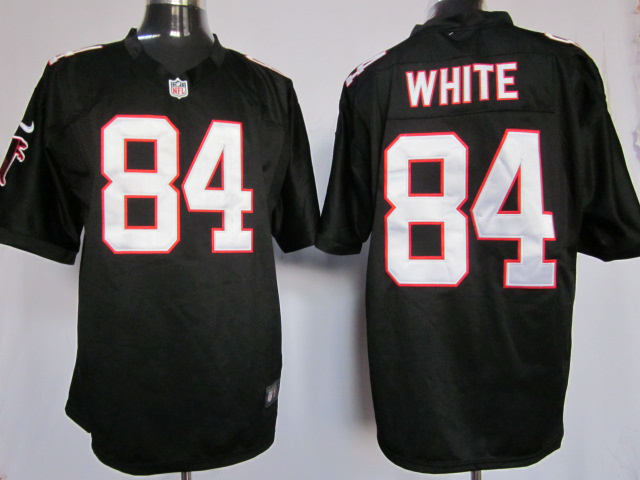 Atlanta Falcons 84 Roddy White black Game Nike Jersey