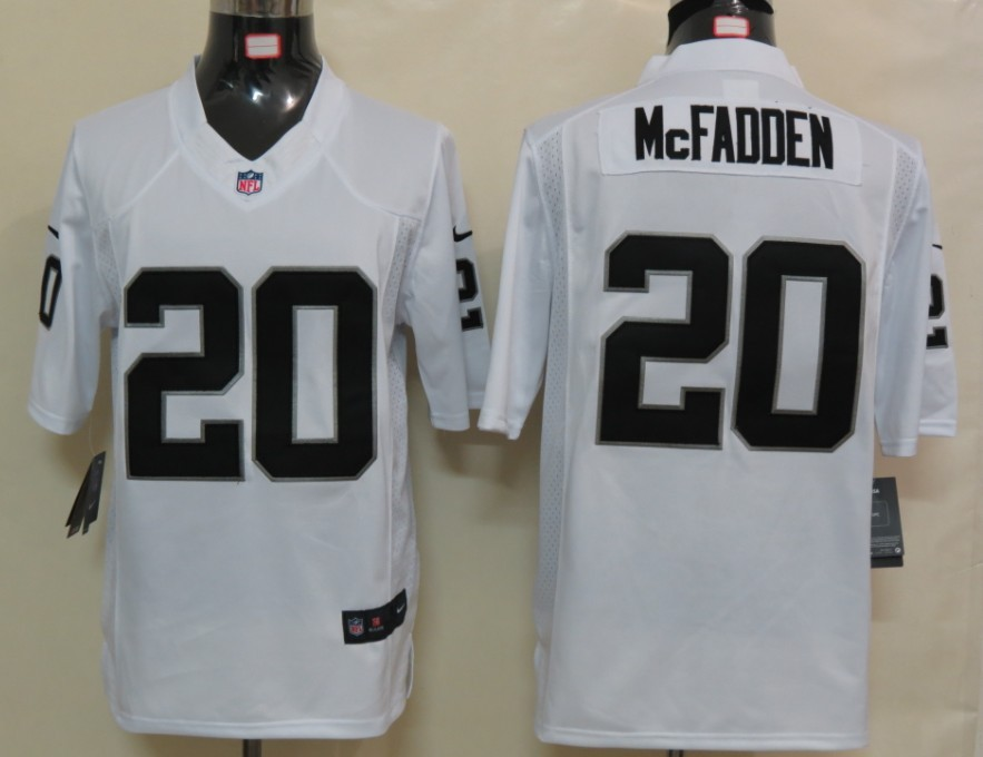 Oakland Raiders 20 McFADDEN White Nike Limited Jersey
