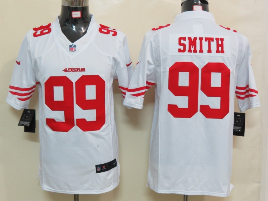 San Francisco 49ers 99 Smith White Nike Limited Jersey