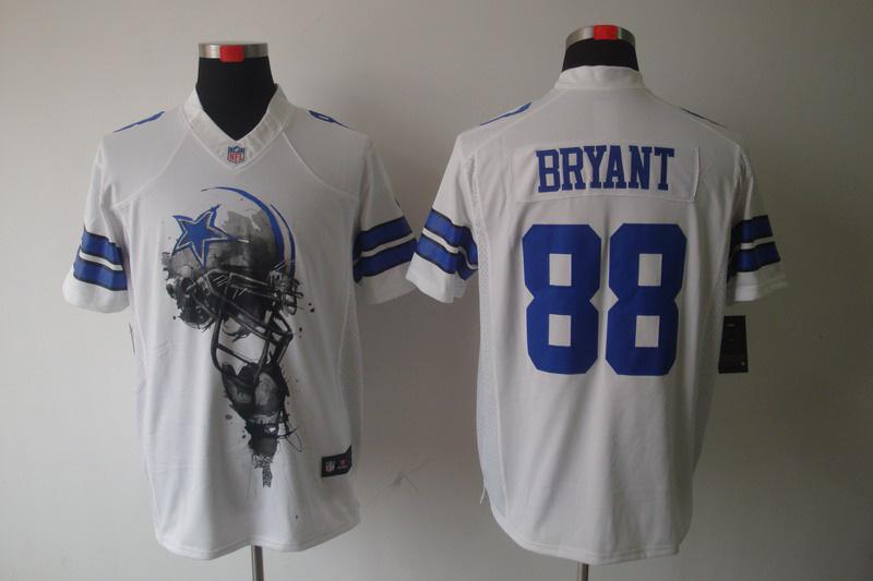 Dallas cowboys 88 Bryant White Nike Helmet Tri-Blend Limited Jersey
