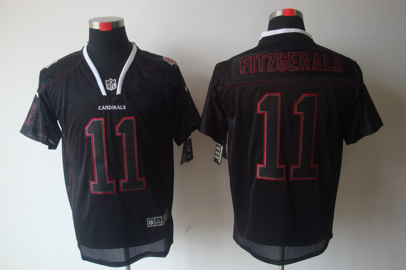 Arizona Cardicals 11 Fitzgerald Nike Lights Out Black Elite Jerseys