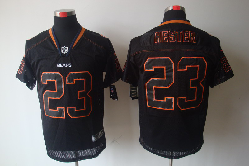 Chicago Bears 23 Hester Nike Lights Out Black Elite Jerseys