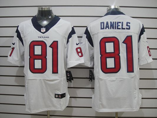 Houston Texans 81 Daniels White Elite Nike jerseys