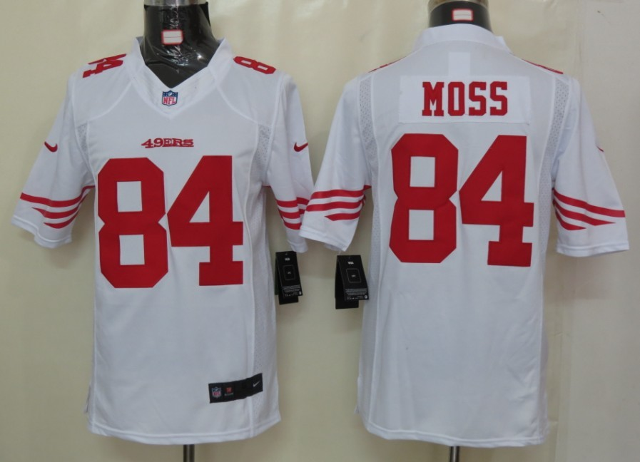 San Francisco 49ers 84 Moss White Nike Limited Jersey