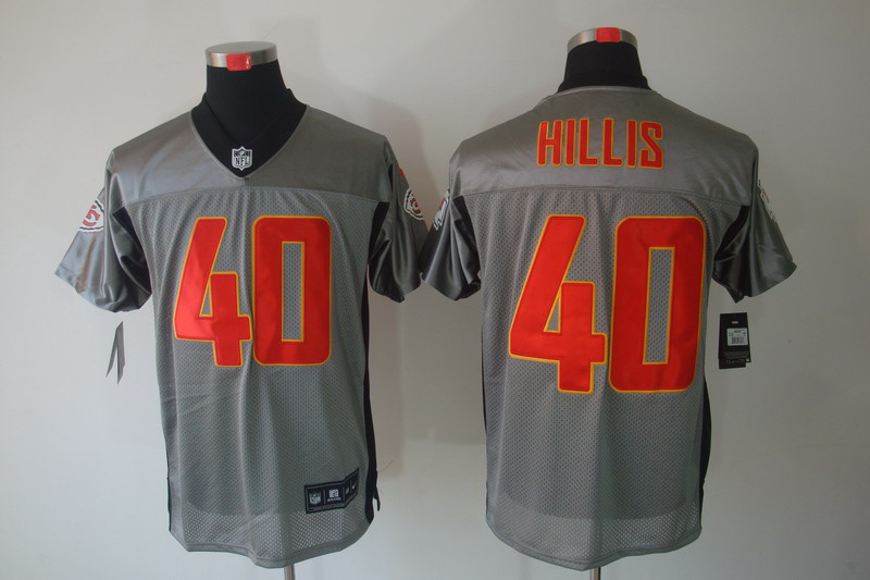 Kansas City Chiefs 40 Hillis Nike Gray shadow jerseys