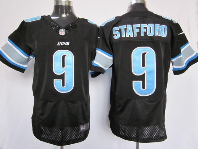 Detroit Lions 9 Stafford black Elite Nike jerseys
