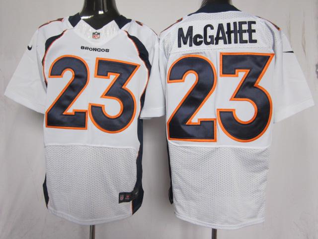 Denver Broncos 23 Mcgahee white Elite Nike jerseys