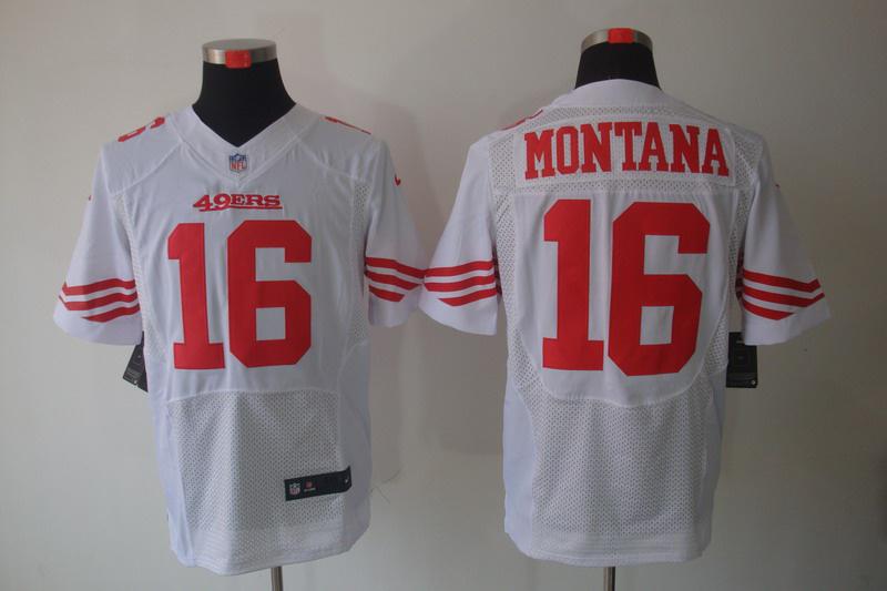 San Francisco 49ers 16 Montana white Elite Nike jerseys