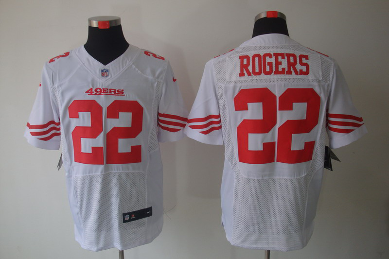 San Francisco 49ers 22 Rogers white Elite Nike jerseys