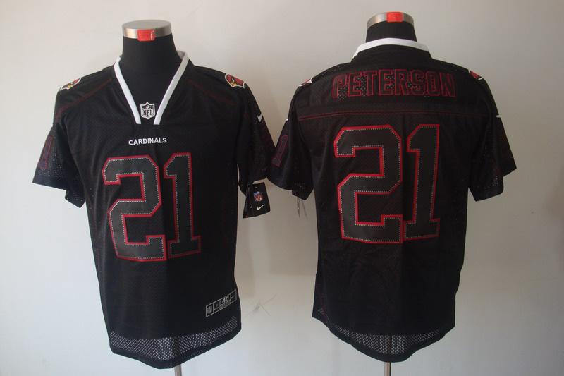 Arizona Cardicals 21 Peterson Nike Lights Out Black Elite Jerseys