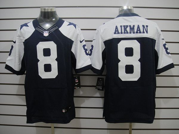 Dallas Cowboys 8 Aikman Blue Thanksgiving Elite Nike jerseys