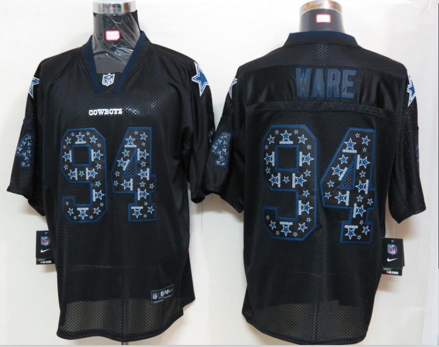 Dallas cowboys 94 Ware Nike Lights Out Black Elite Jerseys
