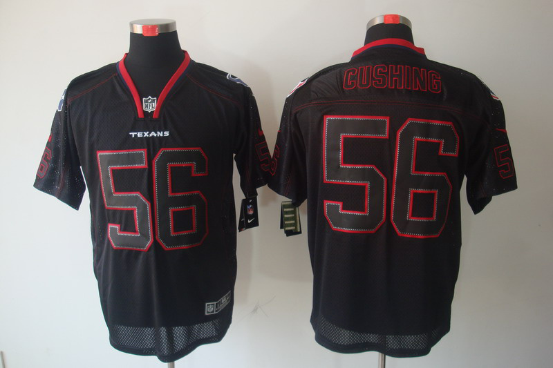 Houston Texans 56 Cushing Nike Lights Out Black Elite Jerseys